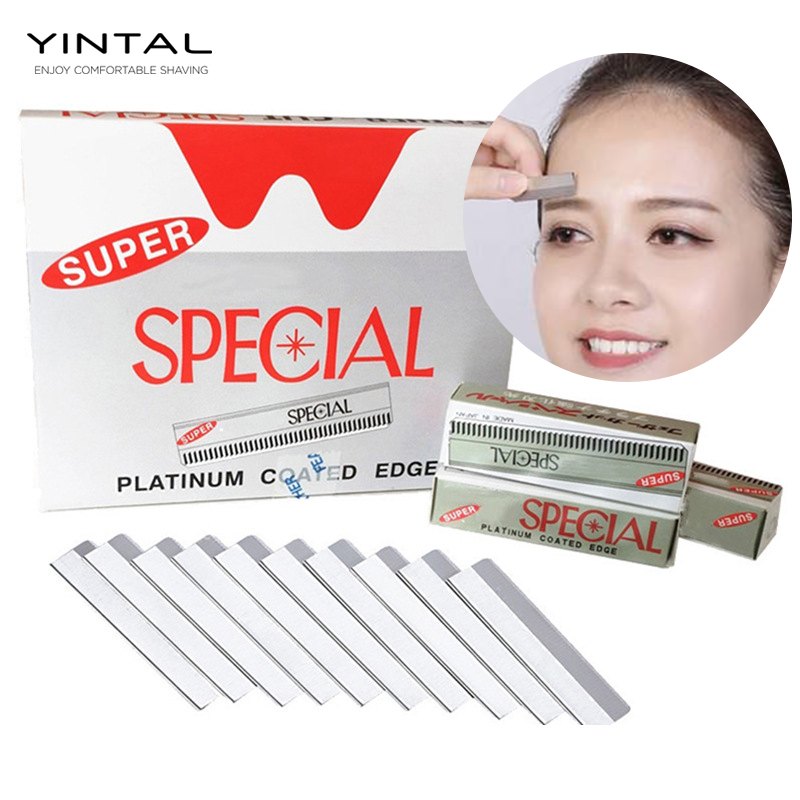 Professionals 10 Pcs Dedicated Scraping Eyebrow Shaping Eyebrows Plucked Razor Blade Set Kits Beauty Makeup Tools Eyebrow Knife