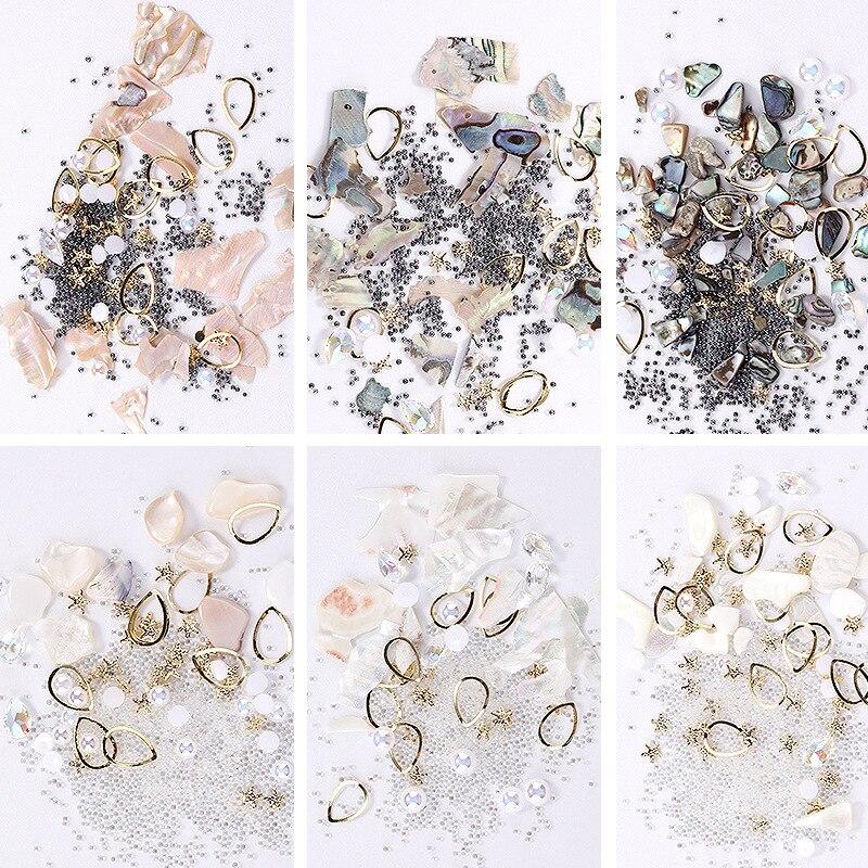 Океанский ветер камень мусор Стразы для кристаллы для ногтей очаровательный камень DIY маникюр жемчужины для украшения ногтей Стразы