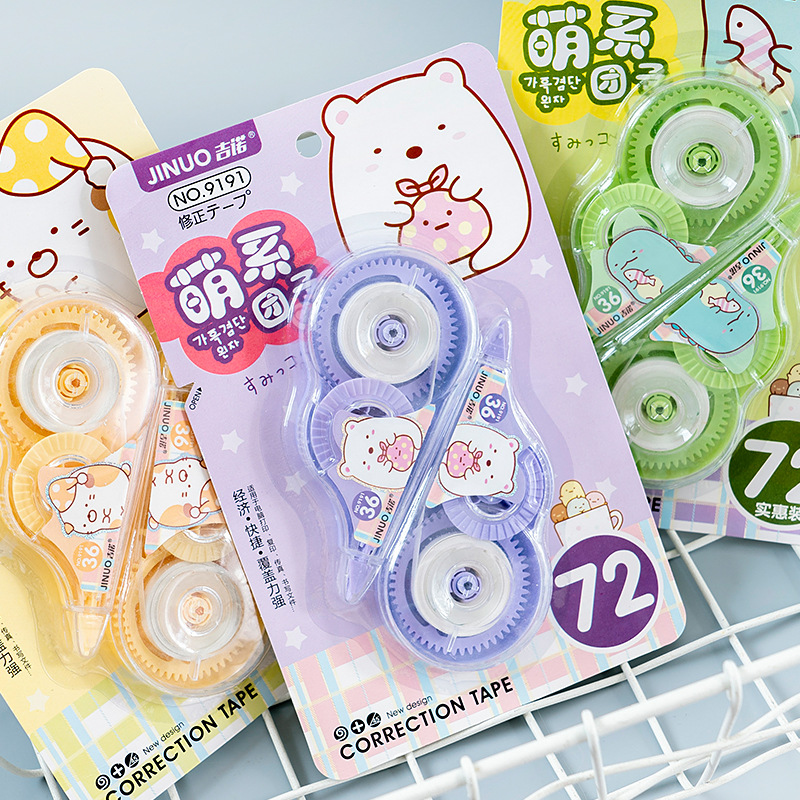 2 Pcs/pack Sumikko Gurashi Correction Tape Cartoon Sticker Promotional Gift Stationery School Office Supplies