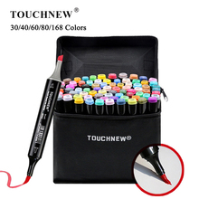 TOUCHNEW 30//40/60/80 Soft Brush Markers Pen Set Sketch Brush Markers Alcohol Based Markers Manga Drawing Animation Art Supplies