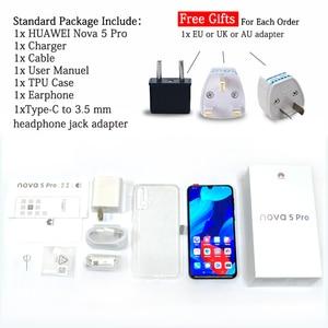 Image 5 - Téléphone portable dorigine HuaWei Nova 5 Pro 8 go 128 go Octa Core 6.39 OLED à lécran empreinte digitale Android 9.0 40W SuperCharge NFC