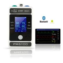 Монитор пациента мониторинг жизненно важных функций ЭКГ НИАД SPO2 PR 4 параметра импульса и температура прибор для измерения артериального давления Поддержка app или ПК с ОС Windows