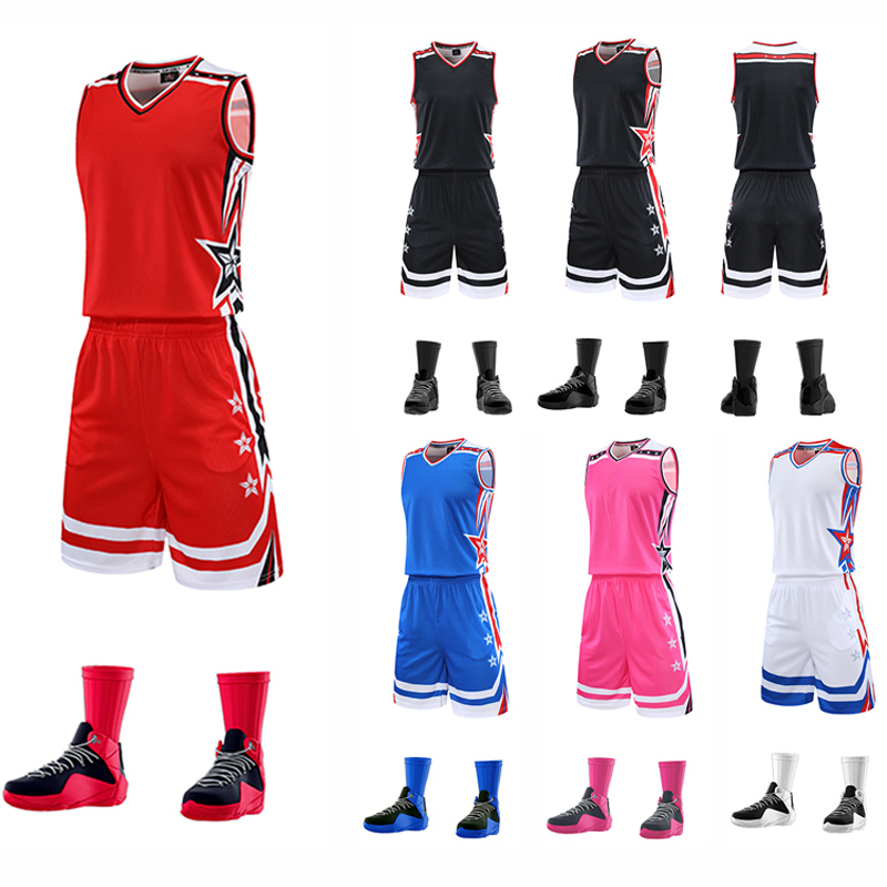 2020 Men High Quality Basketball Jersey Set Uniforms Kits,sports Clothes Basketball Jerseys College Tracksuits Custom L-5xl And To Have A Long Life.