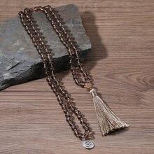 Oaiite 108 чай с украшением в виде кристаллов бусина Мала ожерелье