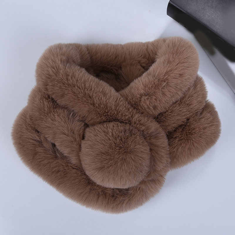 Sciarpa di inverno di Lusso della Pelliccia Del Faux Caldo Della Sciarpa di Modo Morbido Peluche Addensare Snood Dello Scialle delle Sciarpe per I Bambini di Età Delle Ragazze Delle Donne
