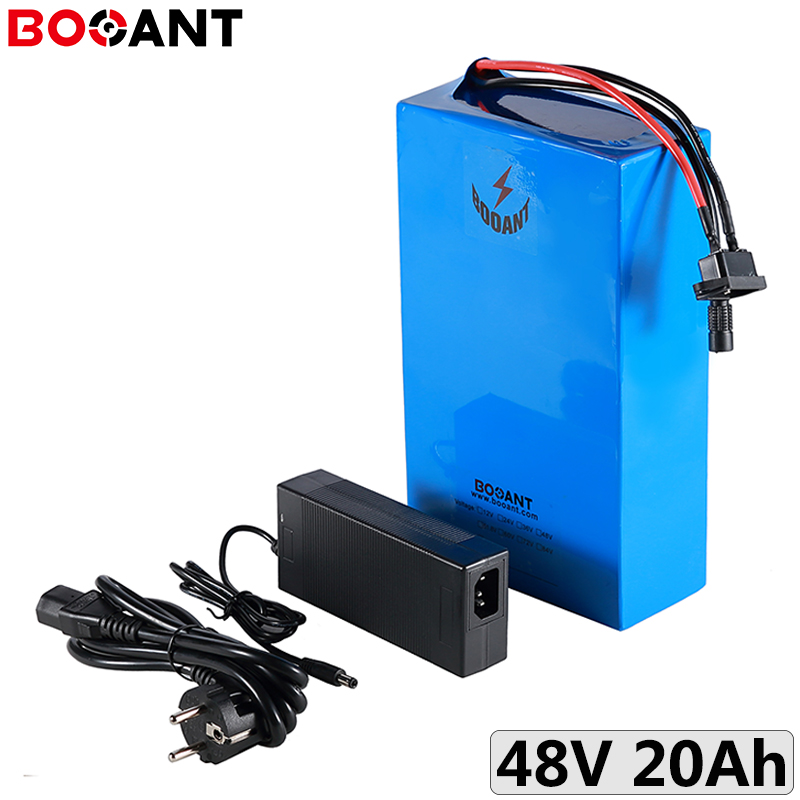 500W 48V 20Ah 15Ah 12Ah electric bicycle battery for Panasonic 18650 cell 13S 48V 750W 1000W lithium ion battery + 2A Charger