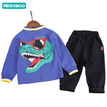 Medoboo Cartoon Baby Clothes Set Girl Boy Childrens Sweatshirts Gentleman Coat Jacket + Pants Clothing Kids Sportwear