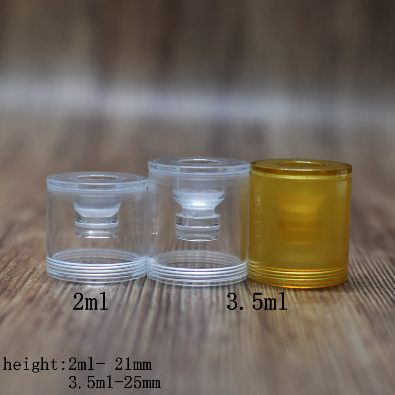 Dvarw MTL RTA Polished Clear Bellcap Ultem Top Cap Diameter 22mm 2ml And 3.5ml Vape Accessoryies For Dvarw Tank