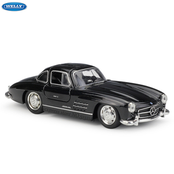 цена на WELLY 1:36 Mercedes-Benz 300SL alloy car model machine Simulation Collection toy pull-back vehicle Gift collection