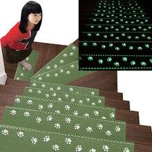 13 Pcs זוהר עצמי דבק מדרגות שרשראות מחצלות החלקה חמוד דוב טופר דפוס רצפת מדרגות שלב הגנה כיסוי לדרוך מחצלת