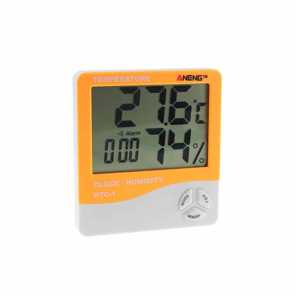 2018 HTC-1 Indoor LCD Electronic Digital Temperature Humidity Meter Digital Thermometer Hygrometer Alarm Clock Weather Station