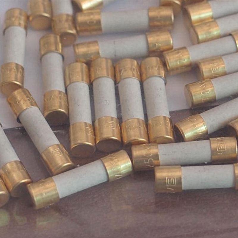 HIFI  Fuse Alloy Slow-melt Fuse Ceramic Gold-plated Cap Schurter 5mm * 20mm  Audio Free Shipping