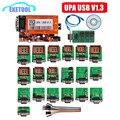 UPA USB V1.3 ECU Программист EEPROM адаптер полный набор ECU Чип Tunning 1 3 UUSP UPA Основной блок полная посылка с функцией NEC