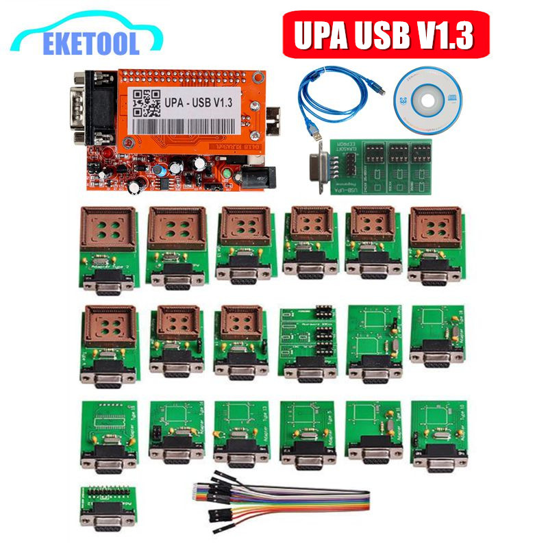 UPA USB V1.3 ECU Programmer EEPROM Adapter Full Set  ECU Chip Tunning 1.3 UUSP UPA Main Unit Full Package With NEC Function