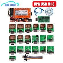 UPA USB V1.3 ECU programator EEPROM Adapter pełny zestaw ECU Chip tuning 1.3 UUSP UPA jednostka główna pełne opakowanie z funkcją NEC