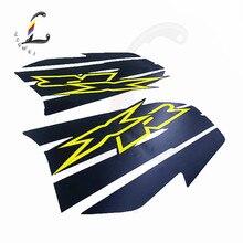 Spedizione gratuita Dirt moto nero applique decalcomanie serbatoio carburante sticker Set per Honda XR250 XR400 coperchio del serbatoio del carburante sticke