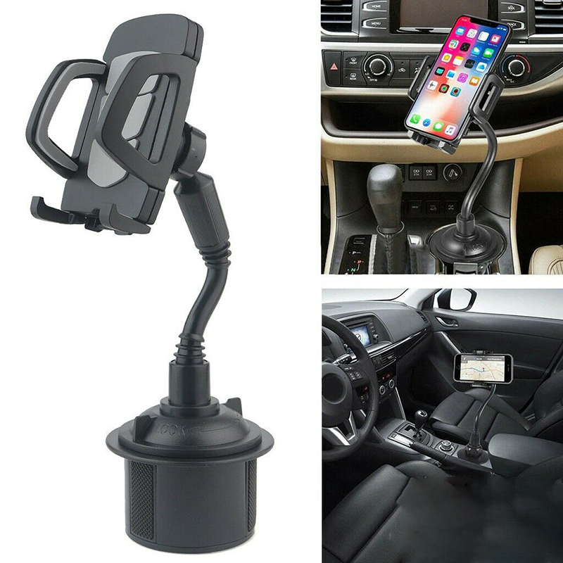 Mayitr Universal Adjustable Gooseneck Car Cup Mounting Mobile Phone Holder Stand Car Cup Holder Cellphone Mount Stand