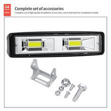 5PCS 12V 48W LED Light Bar Work Light Spotlight Car Lamps For Off Road Truck Tractor 4WD 4x4 SUV ATV Light Auto Car Accessories