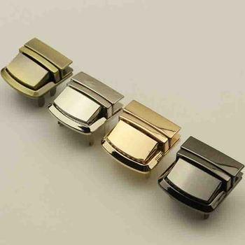 1PC Square Bag Lock Metal Rectangle Case Buckle Clasp For Handbag Shoulder Purse Useful Hardware DIY Fashion Twist