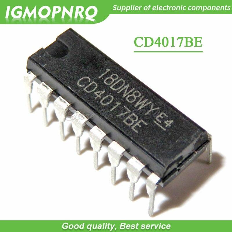 New 10PCS CD4017 4017 SOP-16 SMD COUNTERS//DIVIDER IC