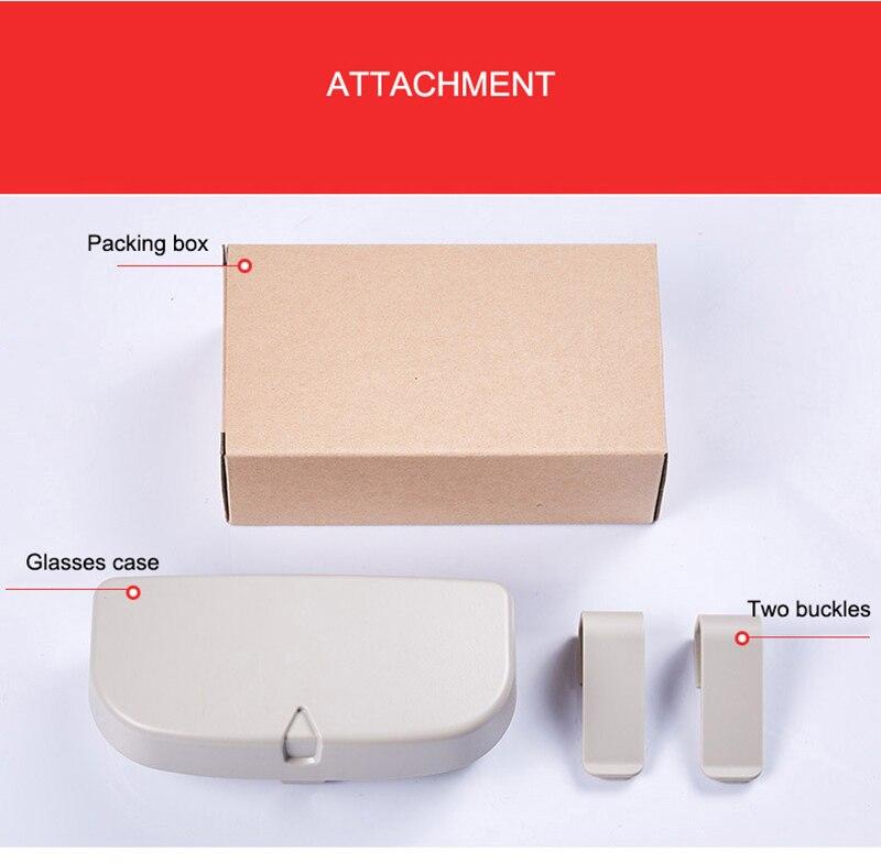 Car Glasses Storage Box Multifunction Sunshade Storage Glasses Case Bill Glasses Clip Car Storage Box Car
