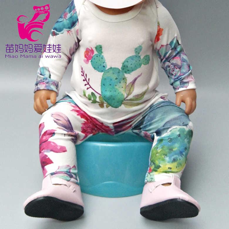 """Fit עבור 43cm בובות לובש פיג 'מה בובת שמלת עבור 18 """"ילדה בובת קריקטורה בגדי מכנסיים פלמינגו בובת תלבושת"""