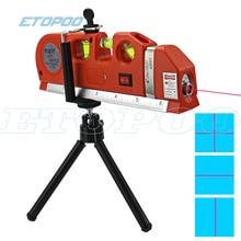 4 в 1 точный Многоцелевой лазерный уровень рычаг с треногой крест проекты горизонтальный вертикальный лазерный светильник луч измерительная лента