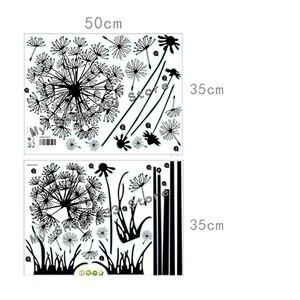 Image 5 - Sıcak siyah karahindiba oturma odası yatak odası duvar çıkartmaları ev süsleme duvar çıkartmaları duvar