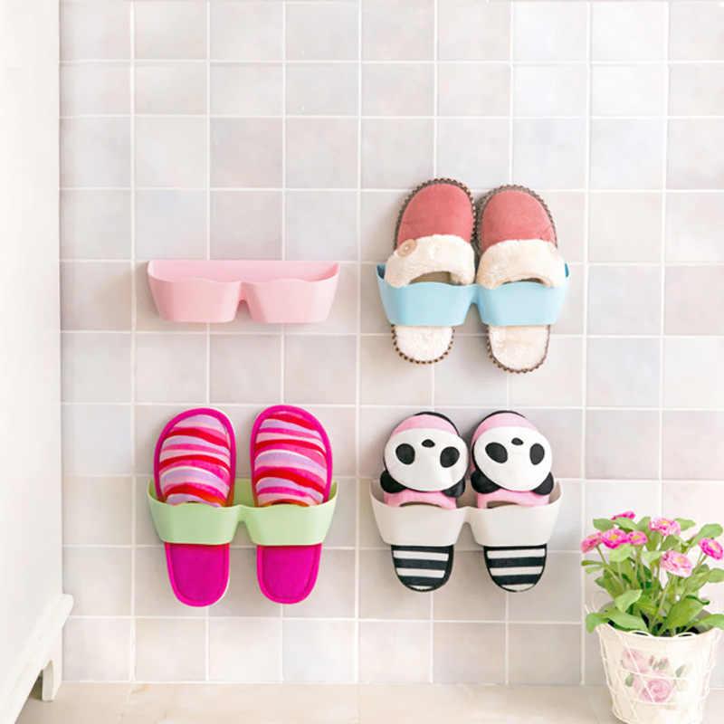 1 pieza de soporte de estante de plástico para zapatos, estante de exhibición, organizador de pared, soporte de almacenamiento, ahorro de espacio, nuevo creativo