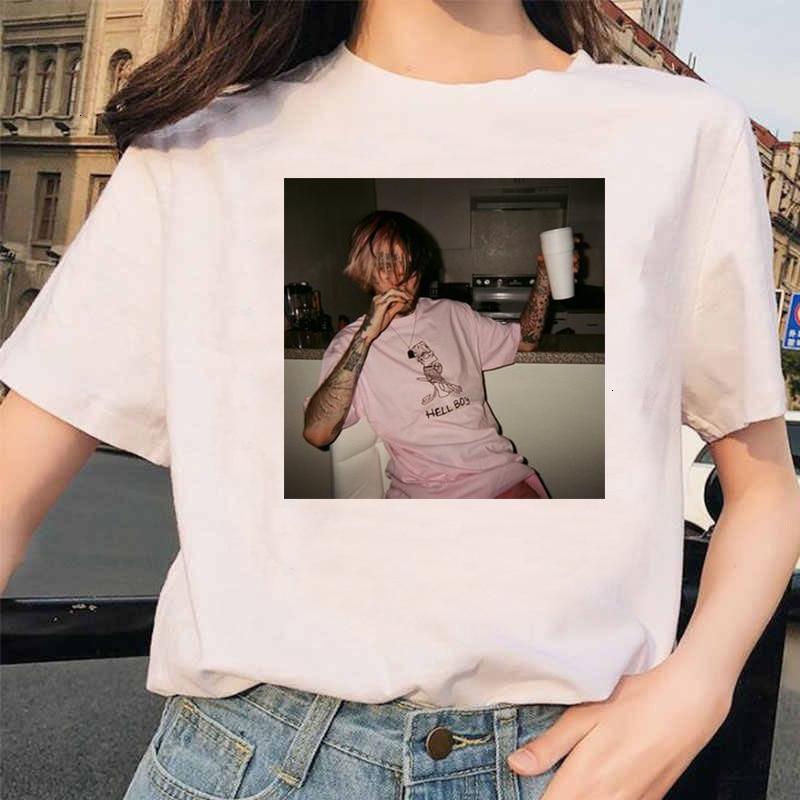 Character 3D Print Rapper Lil Peep T Shirt Rap Hiphop LilPeep Women's Streetwear Trend T-shirt Graphic Print Tee Hip Hop Tops