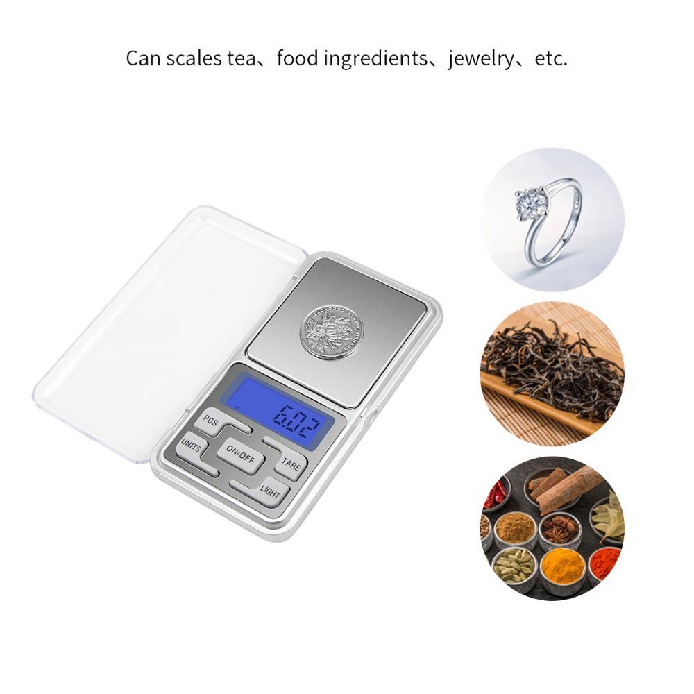 Кухонные весы с ЖК-дисплеем, высокоточные карманные весы 1 г 0,1 г 0,01 г х 500 г 5 кг 10 кг, ювелирные весы для фруктов, овощей, кофе-2