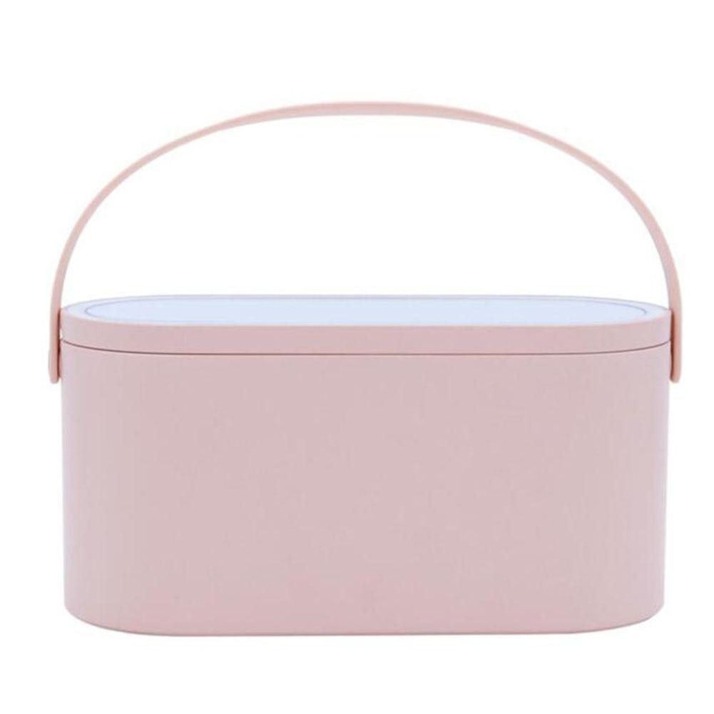 Makeup Mirror Storage Box Travel Cosmetics Adjustable Organizer Lightweight Detachable LED Lights Case Multi Function Portable Makeup Mirrors    - AliExpress
