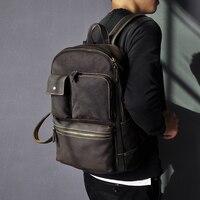New Original Leather Large Capacity Design Men Travel Casual Backpack Daypack Rucksack Fashion College School Laptop Bag 3441