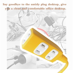Image 5 - Electrical Socket Outlet One in three Japan HOME Two flat plug Electromobile charger Power Strip overall length 50CM