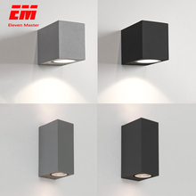IP65 Waterproof indoor outdoor Led wall lights up down LED GU10 Led Wall Lamp Surface Mounted Cube Garden Porch Light ZBW0004