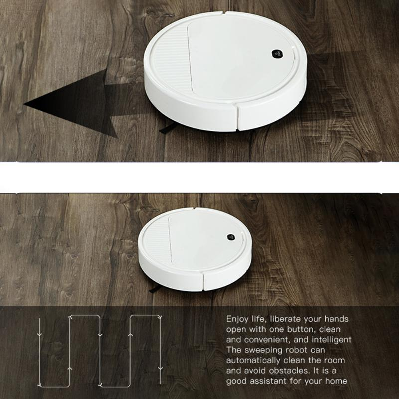 3 in 1 Rechargeable Intelligent Robot Vacuum Cleaner Multi function Smart Floor Sweeper Dry Wet Sweeping Cleaner for Home|Hand Push Sweepers| |  - title=