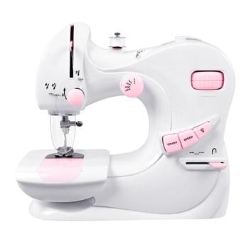Household Mini Electric Sewing Machine Mini Sewing Machine With Catcher Desktop Two-Needle Manual Sewing Machine Eu Plug