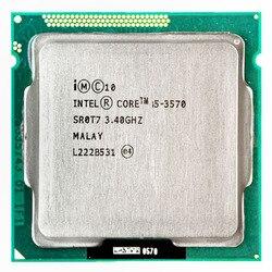 Intel Core i5 3570 İşlemci i5-3570 3.4 GHz/6 MB LGA 1155 CPU işlemci HD 2500 desteklenen bellek: DDR3-1333, DDR3-1600