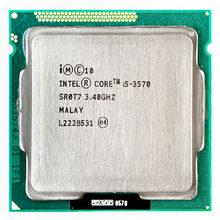 Intel processador core i5 3570, processador i5 -3570 3.4ghz/6mb lga 1155 cpu hd 2500 com suporte memória: DDR3-1333, DDR3-1600