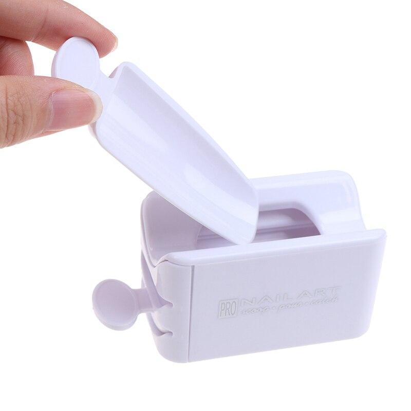 Портативный лоток для утилизации порошка, блестящий ящик для хранения ногтей, инструмент для маникюра, коробка для переработки порошка для ...