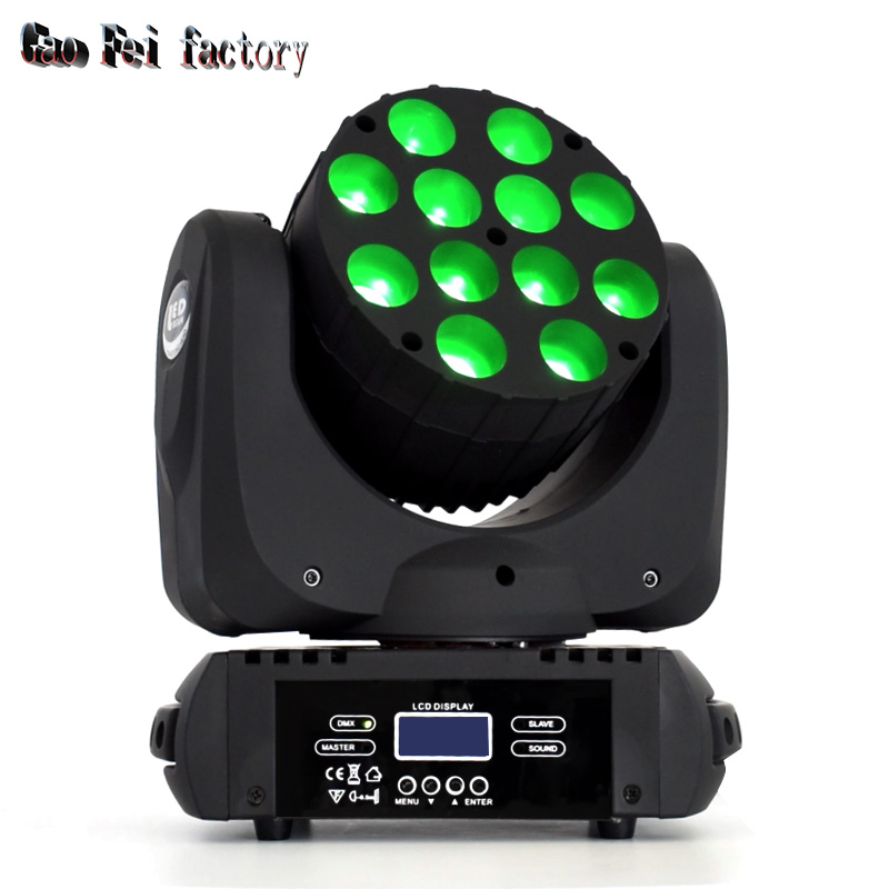 LED Beam Wash 12x12W RGBW DMX 512 Moving Head Lighting For Mini Beam Disco Party Light