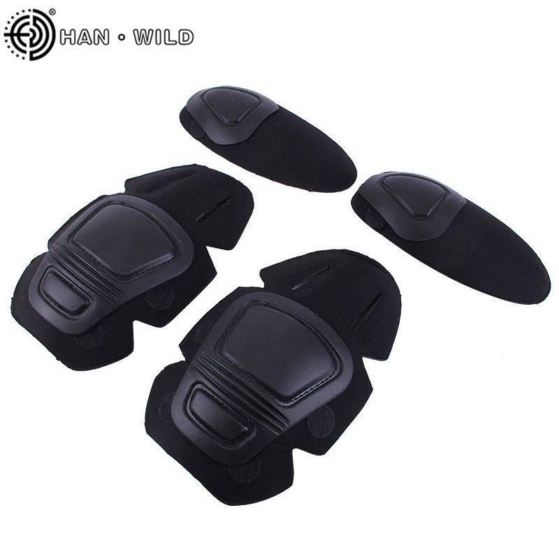 HAN WILD Frog Suit Knee Pads Elbow Support Paintball Airsoft Tactical Kneepad Interpolated Knee Protector Set Gear Combat