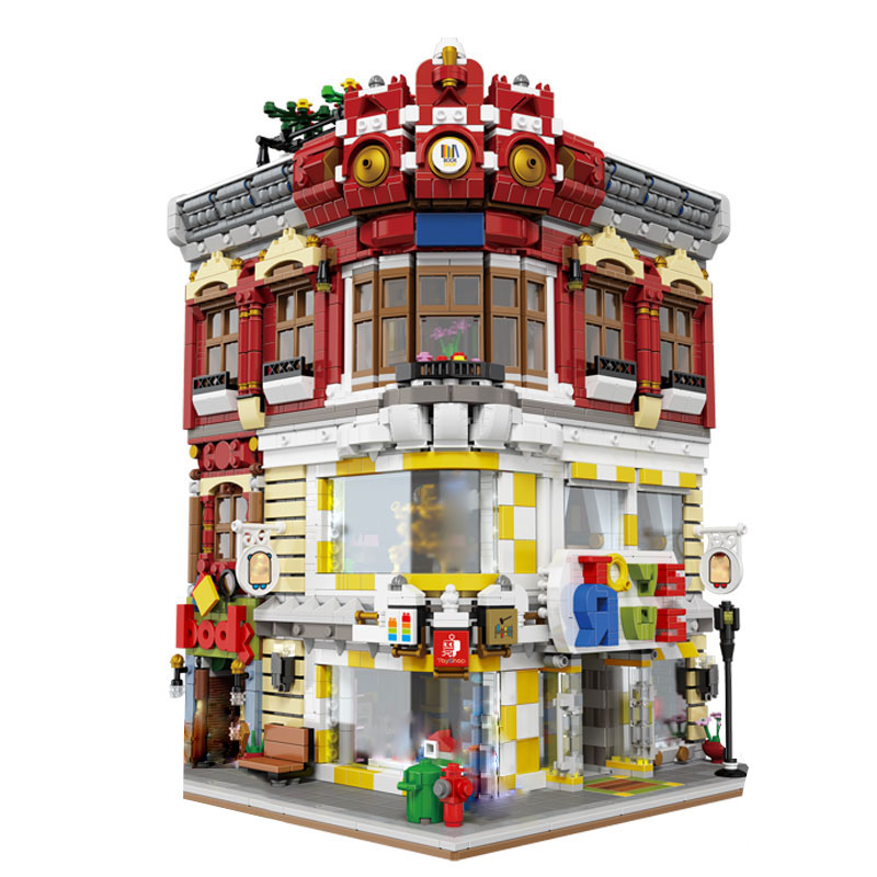Genuine Creative Moc City Series The Toys And Bookstore Set Building Blocks Bricks Toy Model 01006 Block 5491pcs