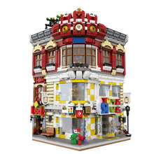 Genuine Creative Moc City Series The Toys And Bookstore Set Building Blocks Bricks Toy Model 01006 Block 5491pcs