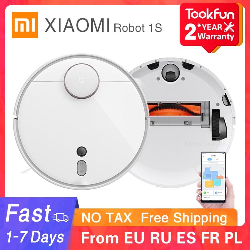 Робот-пылесос XIAOMI MIJIA Mi 1S 2, автоматический пылесос для дома, циклонное всасывание, Wi-Fi, управление через приложение, 2020