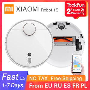 Image 1 - 2020 xiaomi mijia miロボット掃除機1s 2家庭用自動掃引ダスト蒸気滅菌サイクロン吸引無線lan appスマート計画rc