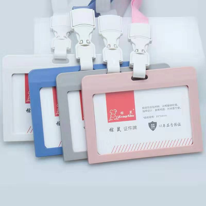 Creative 4  Color Girls Badge Card Holder Nurse Doctors Exhibition Key Plastic ID Name Card Badge Holder  School Office Supplies