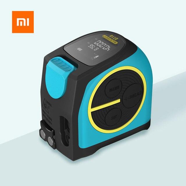 شريط قياس بالليزر من شاومي Mileseey DT10 شريط قياس ليزر رقمي 2 في 1 مع خطاف مغناطيسي بشاشة عرض LCD رقمية
