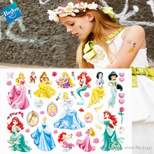 Hasbro Mermaid Princess Arie Children Cartoon Temporary Tattoo Sticker For Girl Toy Waterproof Birthday Party Gift