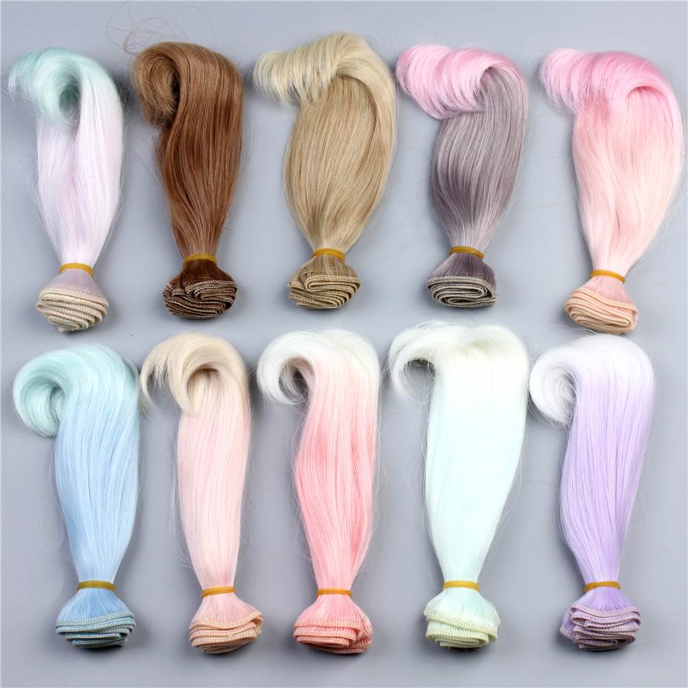 New Style Accessories For Dolls Wig Synthetic Fiber Doll Hair Colorful High-temperature Wire Hairs For BJD DIY Toys